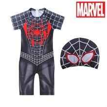 Новый Цельный купальник marvel с человеком пауком для мальчиков