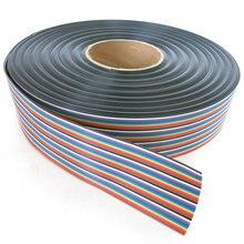 40 контактный Перемычка dupont 1 метр 40p rainbow cable flat