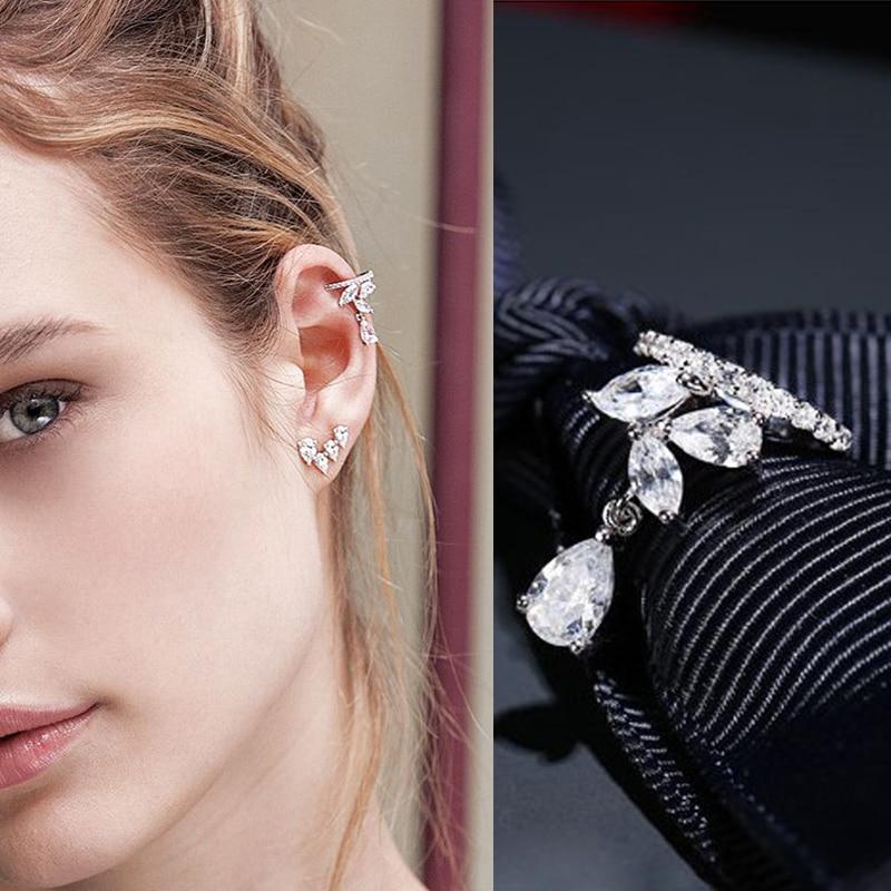 ZAKOL новый простой кубический цирконий микро проложить без проколов небольшой клип серьги для женщин девушка модная Кафа для уха ювелирные изделия FSEP2279