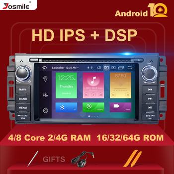 4GB 1Din Android 10 Car DVD Multimedia Radio For Jeep Grand Cherokee Chrysler 300C Compass Patriot DodgeSebring GPS Navigation image