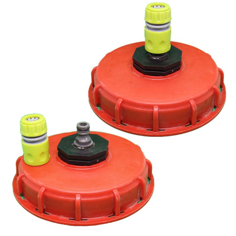 2020 New Plastic IBC Tank Cap Cover Lid Bung Adapter With Water Injection Connector Plug