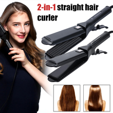 Professional Hair Straightener Tourmaline Ceramic Flat Iron Curler for Straightens Curling Hair HJL2019