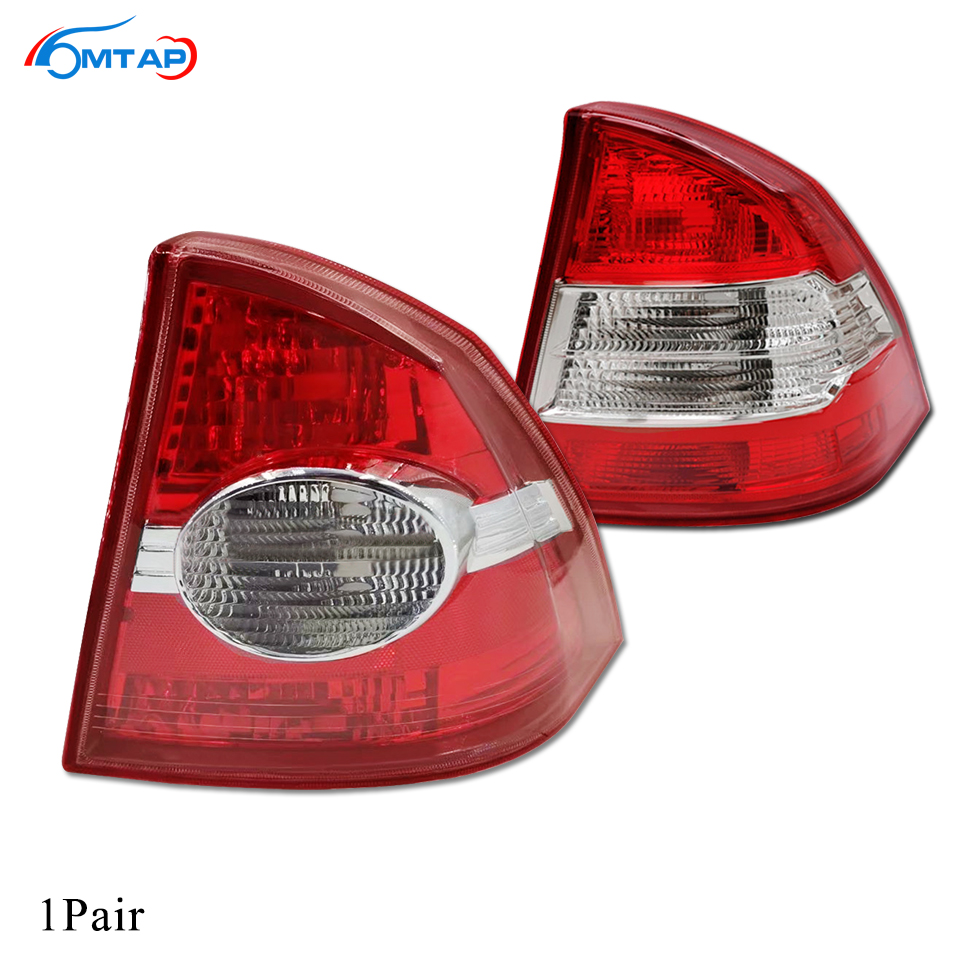 MTAP 2PCS For <font><b>Ford</b></font> <font><b>Focus</b></font> Sedan / Saloon 2005-2012 Tail Light Tail Lamp Taillamp Assy Rear Brake Light Stop Lamp Rear Bumper Lamp image
