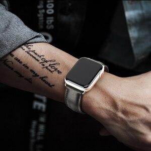 Image 5 - MAIKES hakiki deri saat kayışı Apple Watch için 44mm 42mm 40mm 38mm serisi 4/3/2/1 erkekler & kadınlar iWatch kayış Watchband