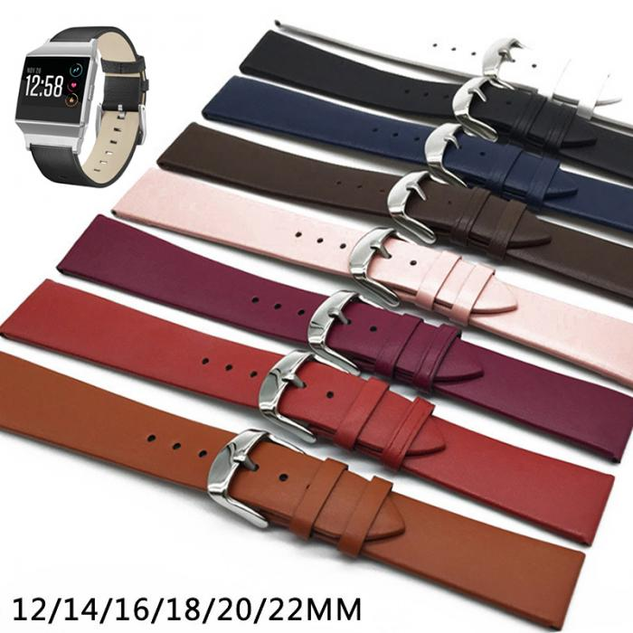 12/14/16/18/20/22mm Watch Strap Band For Samsung Galaxy Watch 46mm Gear S3  Frontier Active 2 Leather Watchband For Amazfit Bip