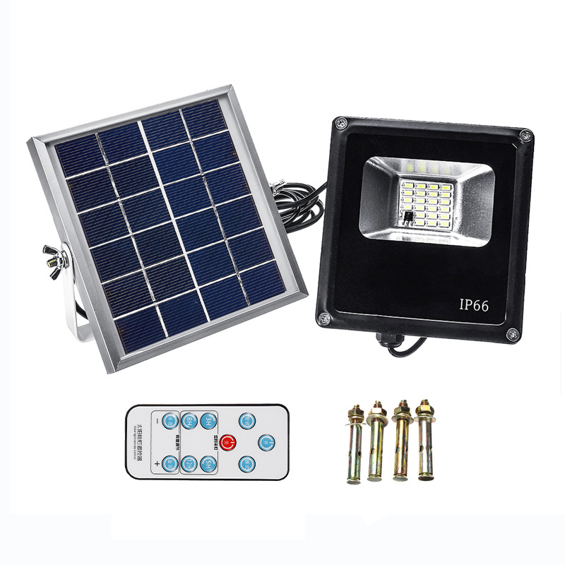20 LED 20W Solar Light Outdoor Timing and Remote Control Solar Flood Light Waterproof for Garden Garage Wall Lamp Outdoor