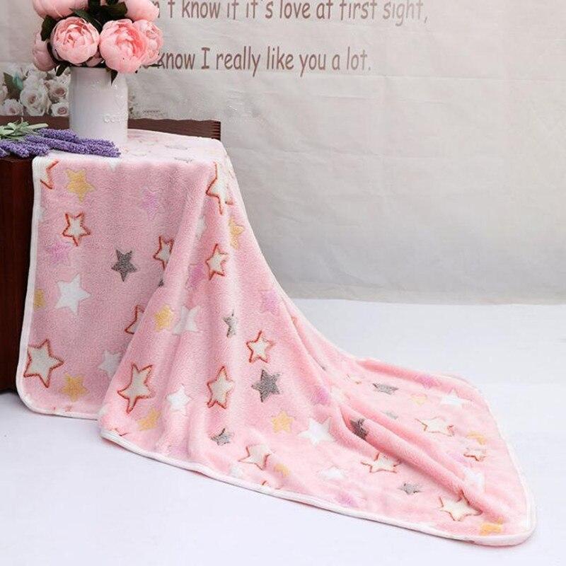 Одеяло для новорожденных, хлопковое зимнее детское Пеленальное Одеяло 73*100 см, мягкое зимнее одеяло для новорожденных - Цвет: Color 5