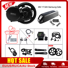 Upgrade 48V 750W Bafang BBS02B Mid Drive Motor Electric Bike Conversion Kit with Lock 17.5Ah  Bicycle Battery in Samsung Cell