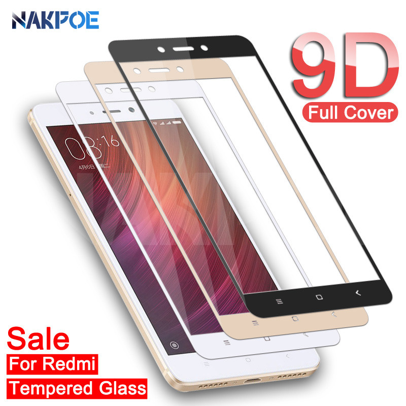 <font><b>9D</b></font> Tempered Glass on For <font><b>Xiaomi</b></font> <font><b>Redmi</b></font> Note 4 <font><b>4X</b></font> 5 5A Pro Screen Protector For <font><b>Redmi</b></font> 5 Plus S2 <font><b>4X</b></font> 5A Protective Glass Film Case image