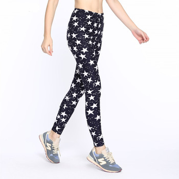 ARDLTME Causal Women Leggings 2019 Fashion Star Print Leggins High Wast Plus Size Elasticity Slim Pant Legging For Woman