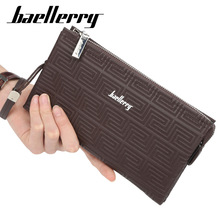 Baellerry Business Men Clutch Bags Large Capacity Men Wallets Cell Phone Pocket PU Leather Long Purse Male Multifunction Wallet
