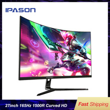 IPASON Gaming Monitor GR272 1500R Curved 27-inch 1920*1080 165Hz High Refresh Rate  Desktop Adeptive-Sync For Computers