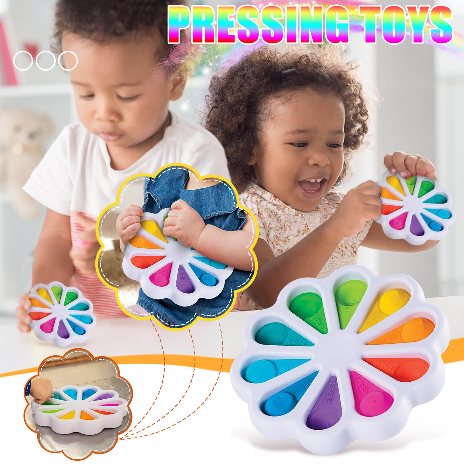 simple dimple fidget Toy Stress Relief Hand Toys for Kids Easy to use Soft Soft img2