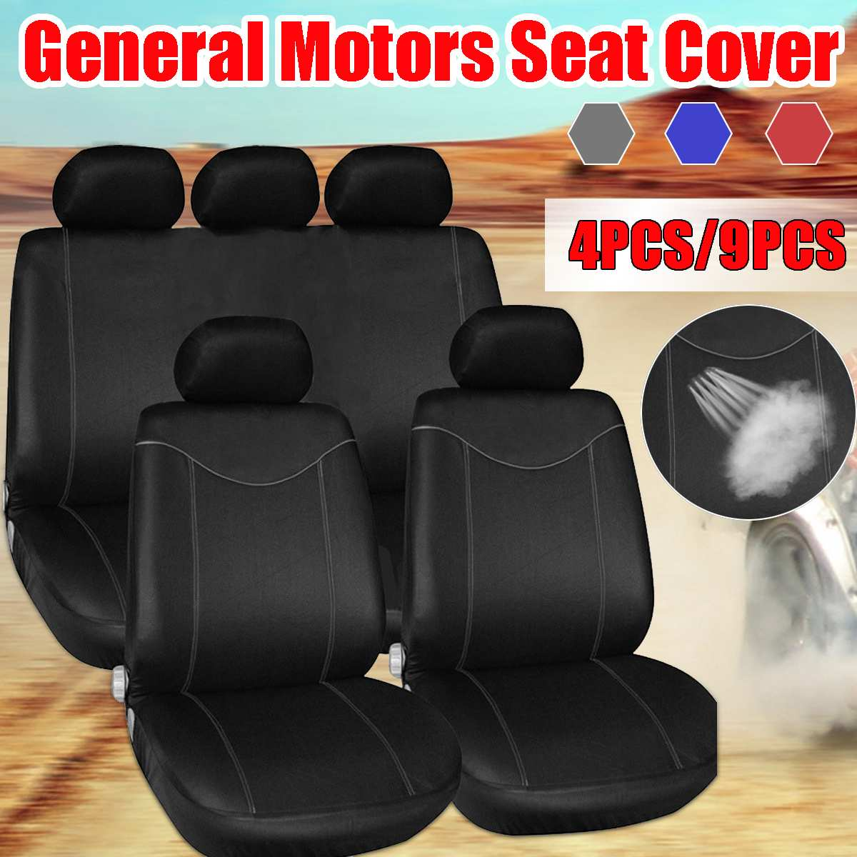 4/9pcs רכב מושב מכסה מלא סט אוניברסלי אוטומטי מושב מגן כרית קדמי אחורי כיסוי פנים אביזרי רכב רכב סטיילינג