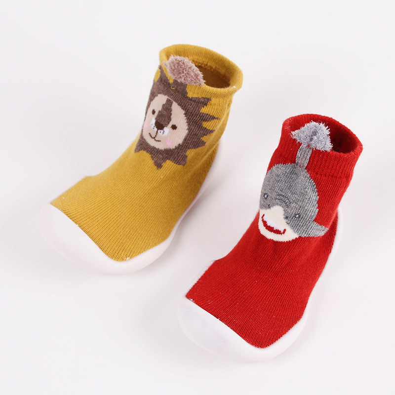 Toddler Baby Knitted Leopard Floor Socks Shoes with Rubber Soles Infant Anti-slip Indoor Socks Newborn Spring Summer Autumn 4