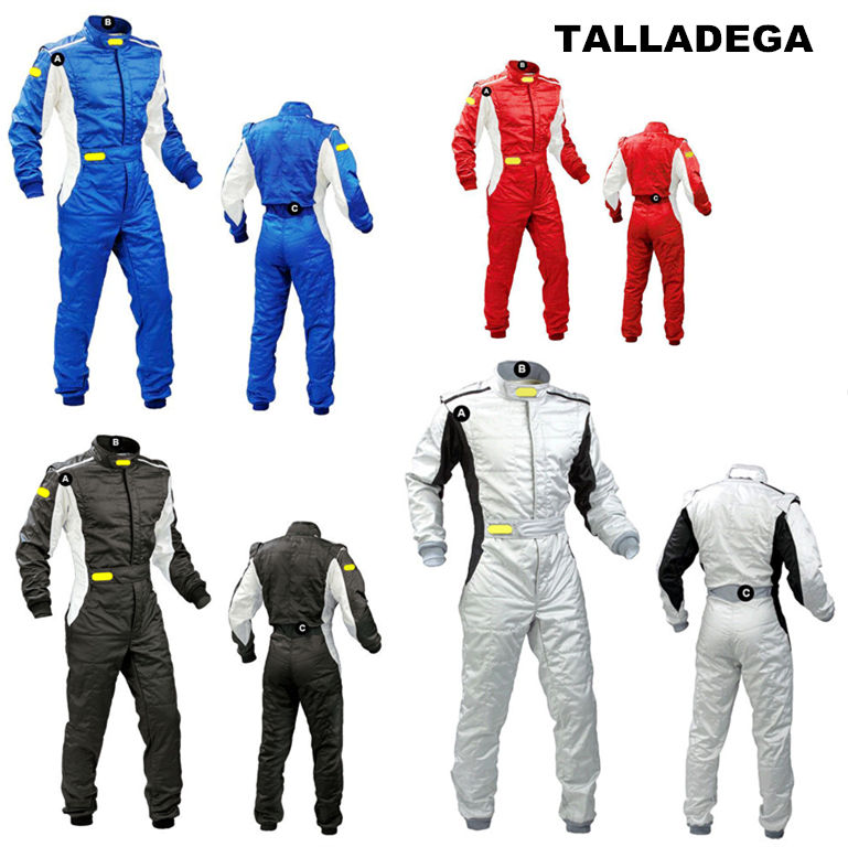 Non-fireproof car racing suit Karting practice clothes Men and women body ski suit title=