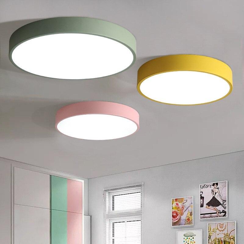 Современный минималистичный светодиодный потолочный светильник для спальни, креативные лампы для прихожей, балкона, круглые лампы для