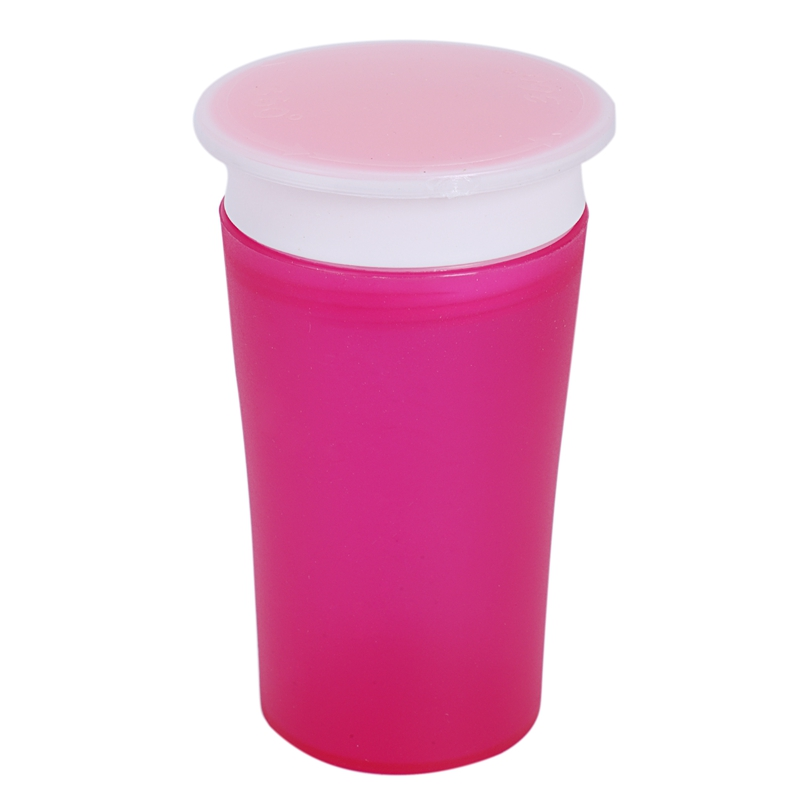 360 Trainer Cup With Handles, Rose Red/Orange,2 Count