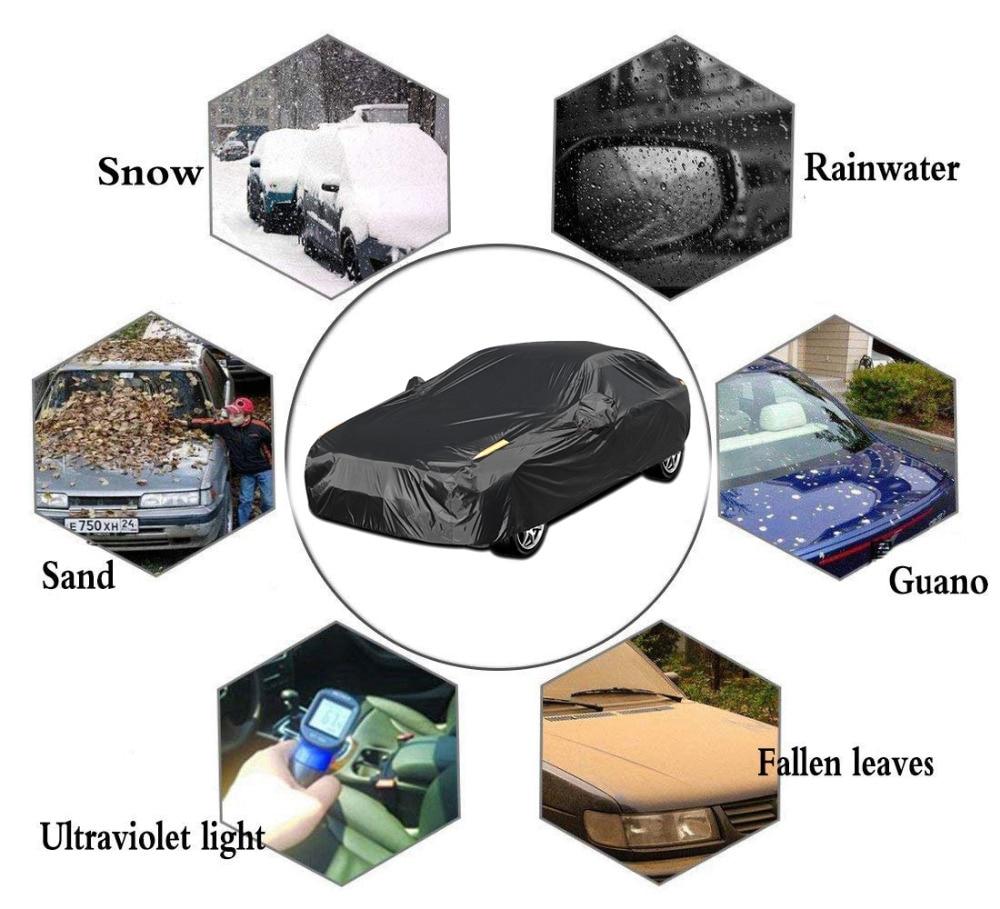 X Autohaux Универсальный Полный чехол для автомобиля крытые наружные автомобильные чехлы Снежный лед водонепроницаемый защита от пыли защита от солнца УФ-защита для всех сезонов