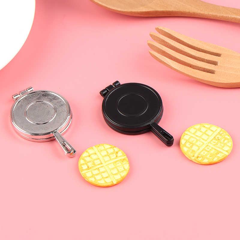 1 zestaw Mini 1:12 skala miniaturowe Dollhouse gofry udawaj zagraj w deser kuchenny jedzenie dla lalek akcesoria do domu zabawki