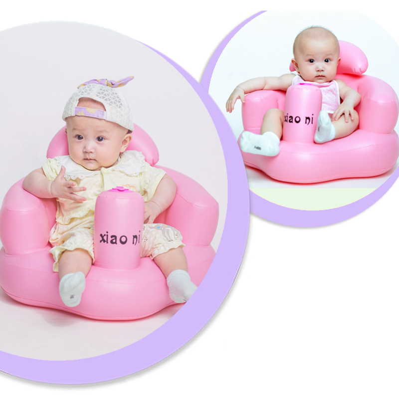 Baby Kid Children Inflatable Bathroom Sofa Chair Seat Learn Portable Multifunctional New VJ-Drop