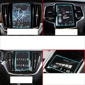 lsrtw2017 car navigation GPS screen protective toughened film for volvo xc90 xc60 s90 xc40 2016 2017 2018 2019 v90 v60 8.7 inch(China)