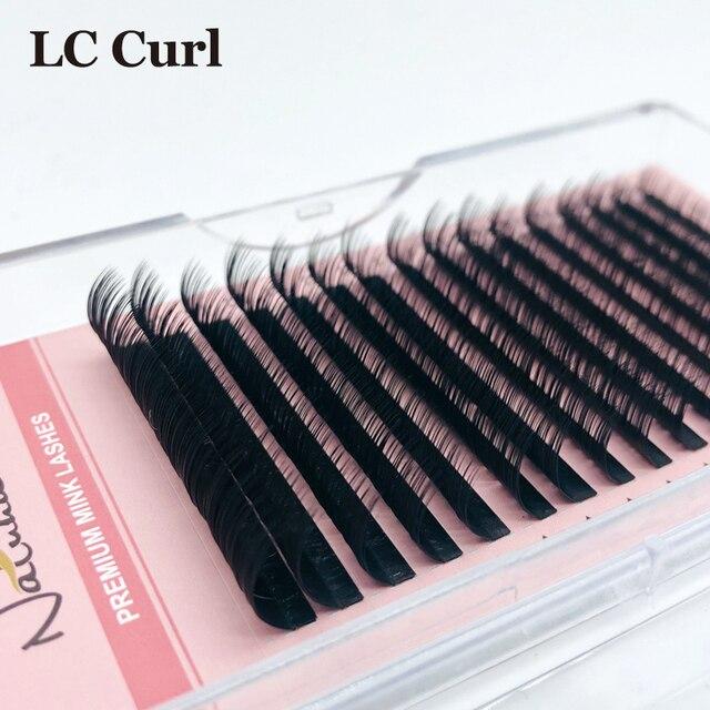 NATUHANA L/L+/LC/LD curl False Eyelash Extensions Matt Black 8-15mm Mixed PBT Mink Eyelashes for Grafting L Shaped Makeup Lashes 4