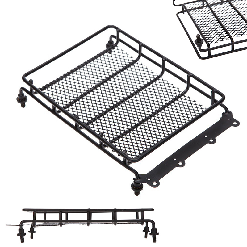 1* Roof luggage rack Fit for 1:10 HSP RC model Cars Black Metal Universal Roof rack 15*10.5*3.5cm Outer car parts