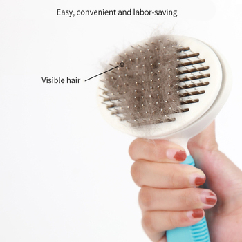 Pet Comb Self Cleaning Brush Comfortable Handle Automatic Quick Clean   4