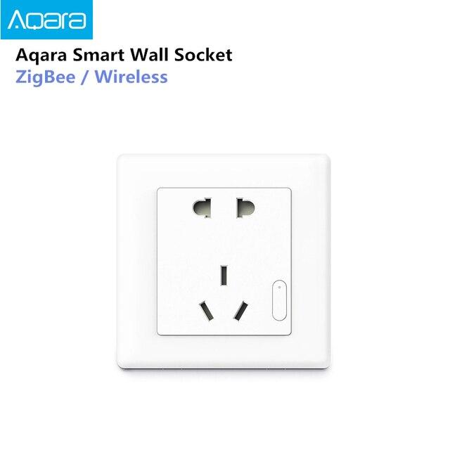 Aqara Smart Steckdose ZigBee Drahtlose Wand Outlet Mijia Steckdose Schalter Arbeit Für Mijia Smart Home Mihome APP 2