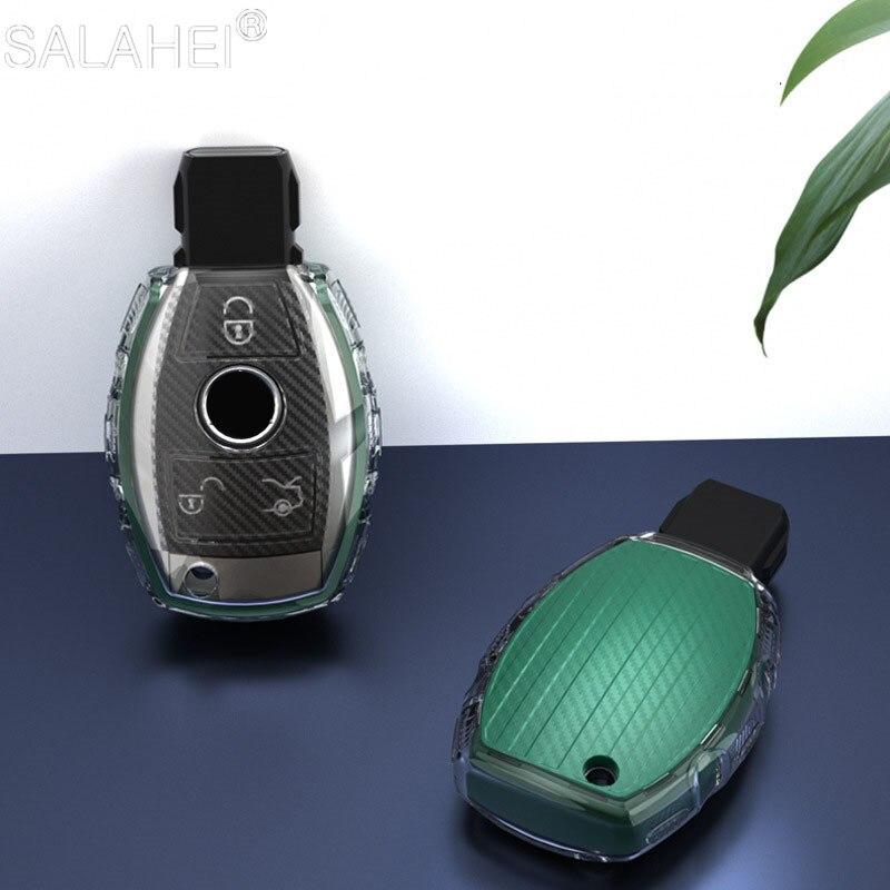 Sıcak satış yumuşak TPU araba anahtarı durum kapak için Mercedes Benz W203 W210 W211 W124 W202 W204 W212 W176 AMG aksesuarları anahtarlık