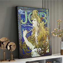 Affiches et imprimés sur toile avec Cigarettes d'alphonse Mucha, peintures d'art sur le mur, images d'art, décoration de maison