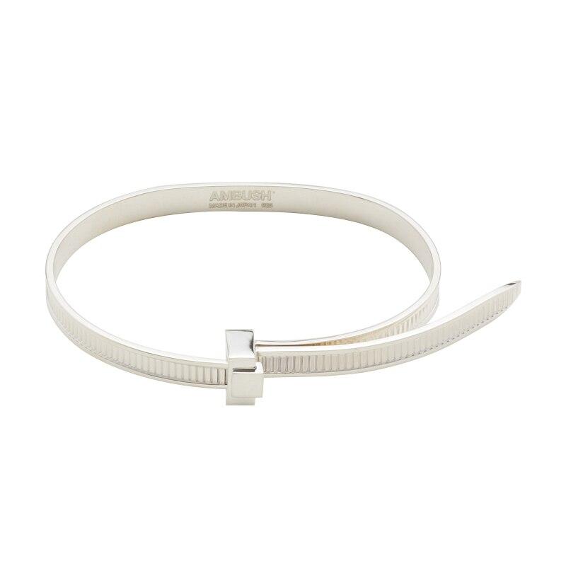 Embuscade Hip Hop Simple personnalité 925 argent facile tirer Bracelet Bracelet réglable cadeaux personnels Punk bijoux pour femmes hommes