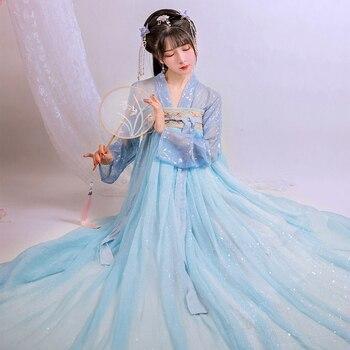 Chinese Han Costume Women Ancient Chinese Costume Daily Hanfu Tang Suit Modern Hanfu Dress Fairy Dress Princess Clothing SL1276