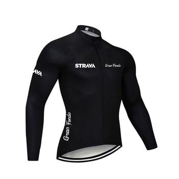 2019 strava outono manga longa camisa de ciclismo conjunto bib calças ropa ciclismo roupas de bicicleta mtb camisa uniforme roupas masculinas 15
