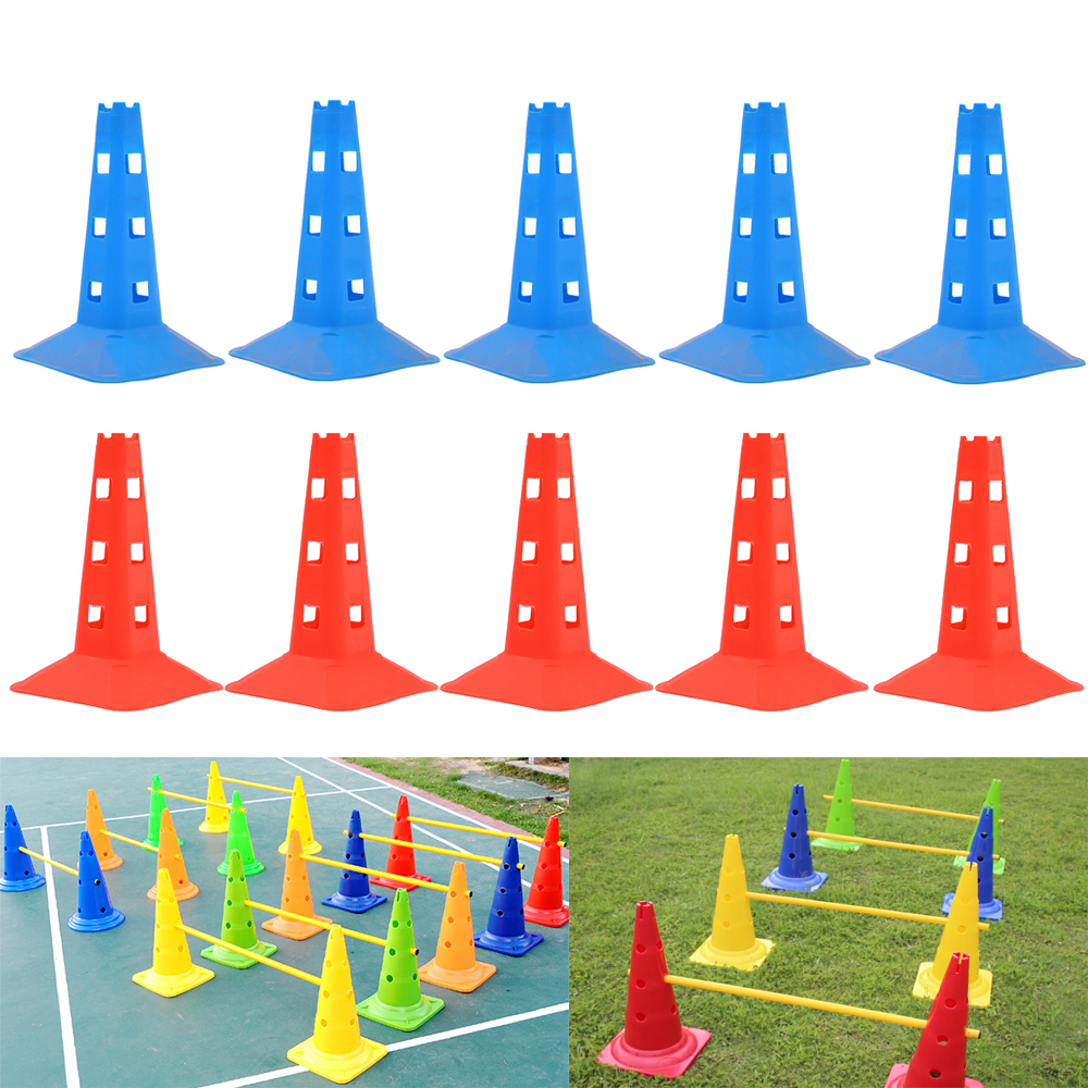 Cones For Soccer 32cm Soccer Training Sign Dish Pressure Resistant Cones Marker Discs Marker Bucket PVC Sports Tools