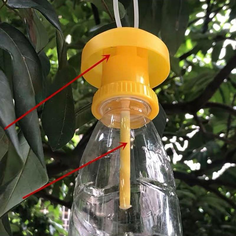 Meyve sinek tuzak Killer plastik sarı Drosophila tuzak sinek yakalayıcı haşere böcek kontrolü ev çiftlik meyve bahçesi 6*6*2 cm