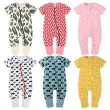 Комбинезоны для новорожденных с коротким рукавом и мультипликационным