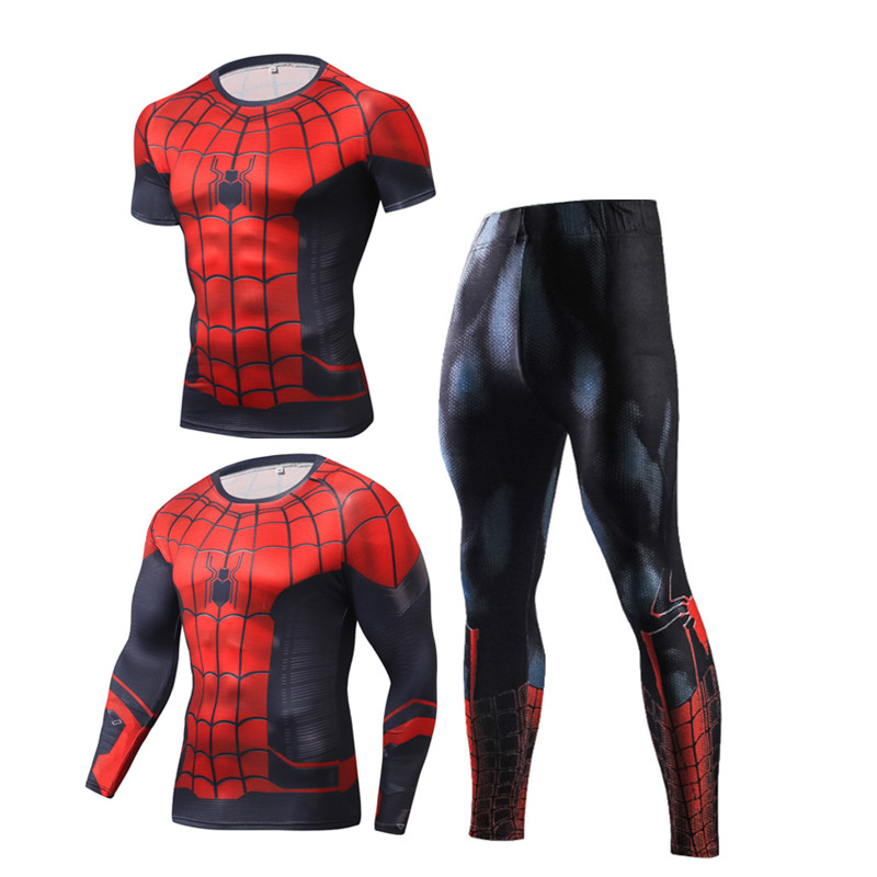 Compression Men's Sport Suits Quick Dry Running sets High Quality Clothes Joggers Training Gym Fitness Tracksuits MMA Rashguard 3