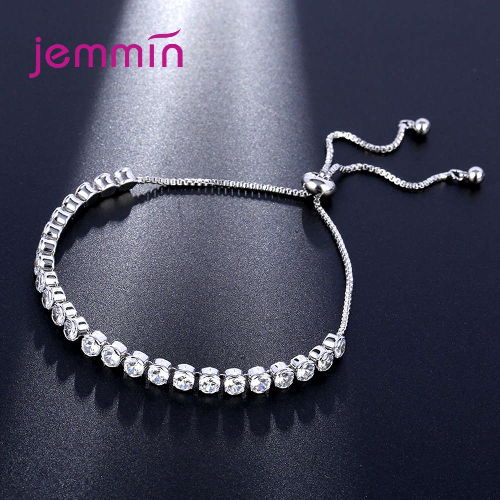 Hcdc0c258a587489f856d33bc9e1d3c4be - Top Selling Dazzling Crystal Bracelets 925 Sterling Silver Round Cubic Zirconia Beads Strand Women Wedding Engagement Jewellery
