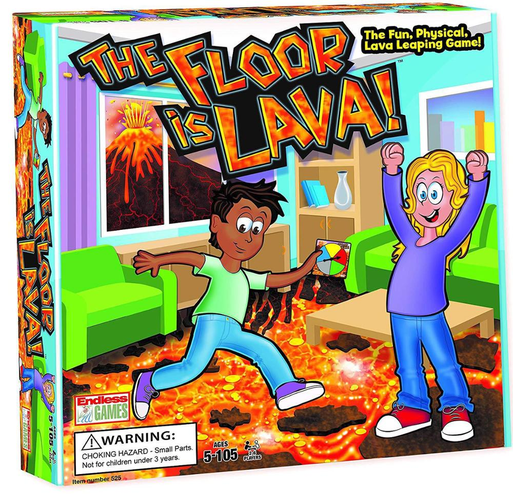 The Floor Is Lava Turntable Card Toy Children's Party Game Card Family Board Game Toys Kids Floor Games Christmas Education Toys