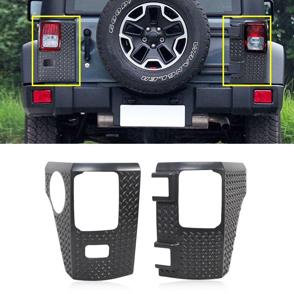 Taillight Wrap Angle Corner Guard Decoration Cover Trim for Jeep Wrangler JK 2007-2017 2/4-Door Car Exterior Accessories Black