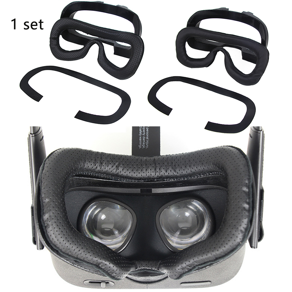 3pcs Repair Soft Facial Frame Cover PU Leather Home VR Headset Eye Mask Replacement Part Spare Foam Pad Kit For Oculus Quest