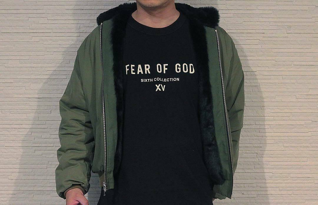 Fear <font><b>God</b></font> Fog Sixth Collection Xv Tee Japan Limited T-<font><b>Shirt</b></font> Black Unisex Size S-3Xl image