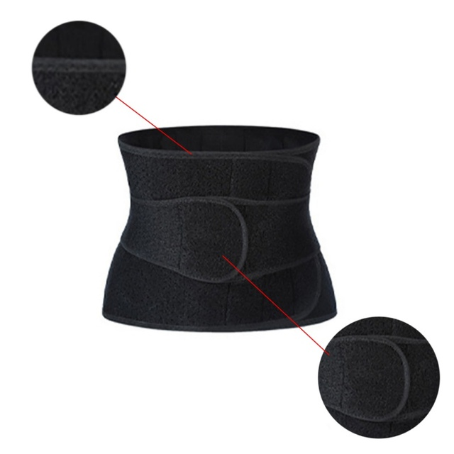 Women Waist Belt Weight Loss Cincher Trimmer Back Support Sweat Crazier Slimming Body Shaper Girdle Belt Fitness Running 2