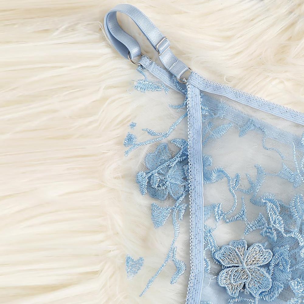 2019 Longerie Mujer Verano Sexy Bra Set Lingerie Corset Lace Underwire Racy Muslin Sleepwear Underwear Tops+Briefs Lenceria  A1 5