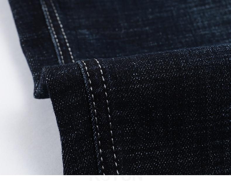 KSTUN Classic Jeans Men in Winter Navy Blue Elastic Straight Regular Fit Business Casual Denim Pants Long Trousers Men's Clothing Jean 17