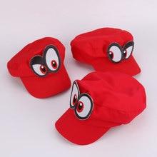 Jogo super odyssey chapéu adulto crianças anime cosplay boné feito à mão