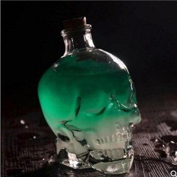 Glass Skull Head Cup Vodka-Shot Whiskey Wine Tea Drinking Shot Bottle Decanter Drinkware Bar tools Halloween Gift