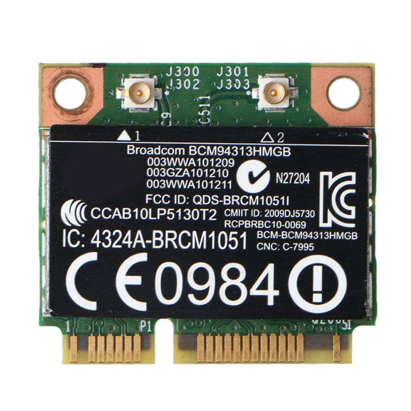 For Broadcom BCM94313HMGB Wifi Bluetooth4 0 Half Mini PCI-E Wireless Card for-HP X6HA